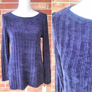 DANA BUCHMAN Long Sleeve Scoopneck Sweater